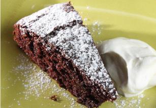 Prajitura de curmale, ciocolata si cafea