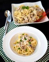 Spaghetti cu ton si ciuperci