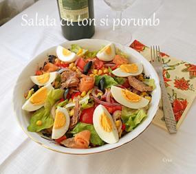Salata mediteraneana cu ton si porumb