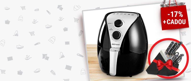 Friteuza Air Fryer + CADOU: Set din 8 cutite si un foarfece
