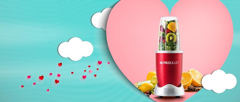 Extractor de nutrienti Nutribullet Rosu - CADOU ideal de Ziua Indragostitilor!