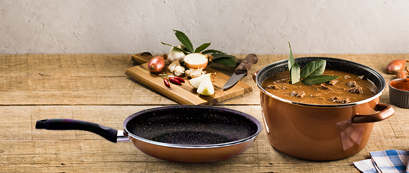 Cratita  Stone Legend CopperLUX + SUPER CADOU: Tigaia Frypan